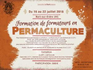 Formation de Formateurs en permaculture à Nort sur Erdre (44) @ La Rigole | Nort-sur-Erdre | Pays de la Loire | France