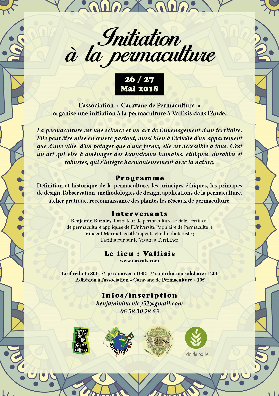Initiation à la permaculture avec l'association « Caravane de Permaculture »à Nazcats, Vallisis dans l'Aude, les 26 et 27 mai 2018 @ Caravane de Permaculture