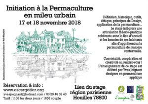 Initiation à la permaculture en milieu urbain (Région parisienne) @ L'escargotier