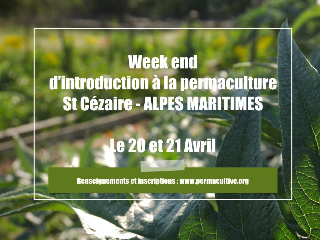 Introduction à la permaculture - 20 et 21 avril à Saint Cézaire sur Siagne - Alpes Maritimes @ Saint Cézaire sur Siagne | Nice | Provence-Alpes-Côte d'Azur | France