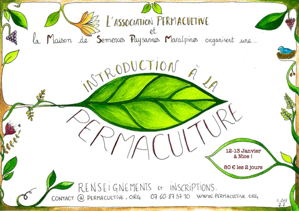 Introduction à la permaculture - 12 et 13 janvier - Nice @ La Maison de Semences Paysannes Maralpines | Nice | Provence-Alpes-Côte d'Azur | France