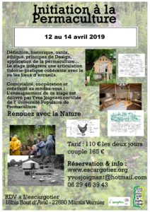 Initiation à la permaculture @ L'Escargotier