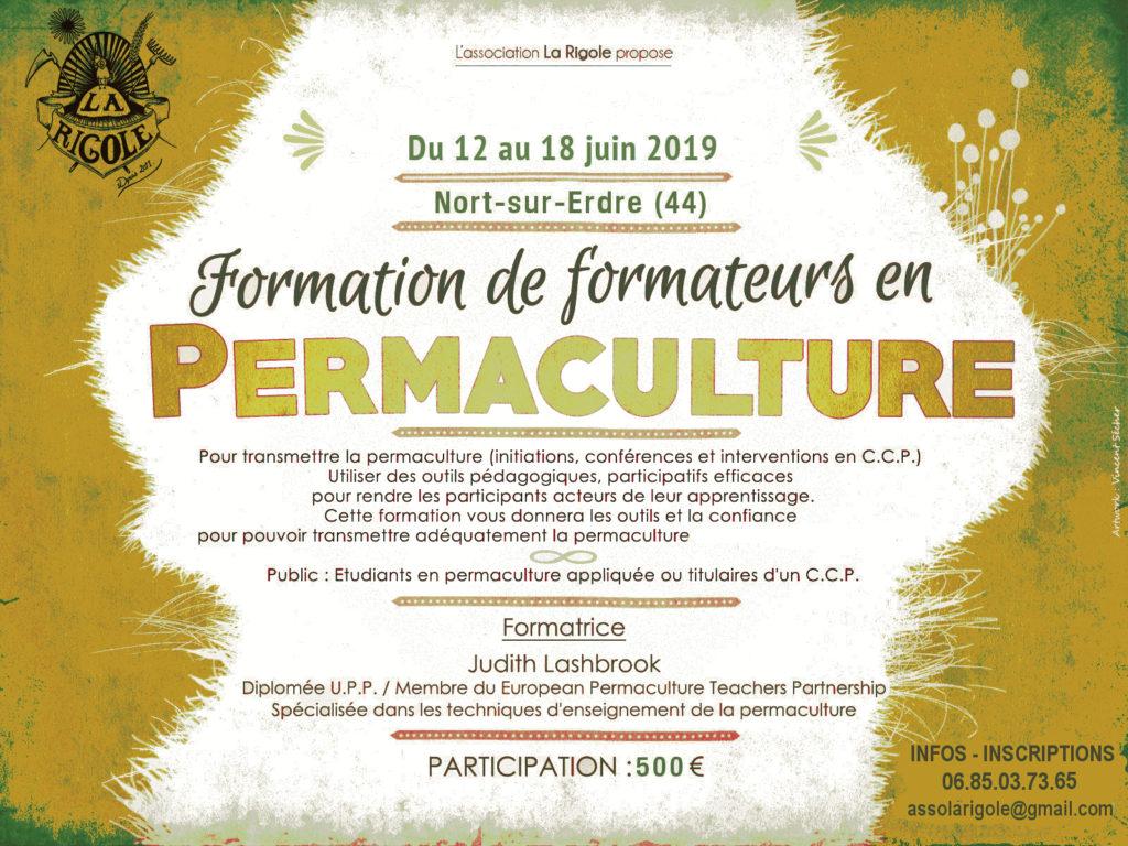 Formation de formateurs en permaculture à Nort sur Erdre (44)