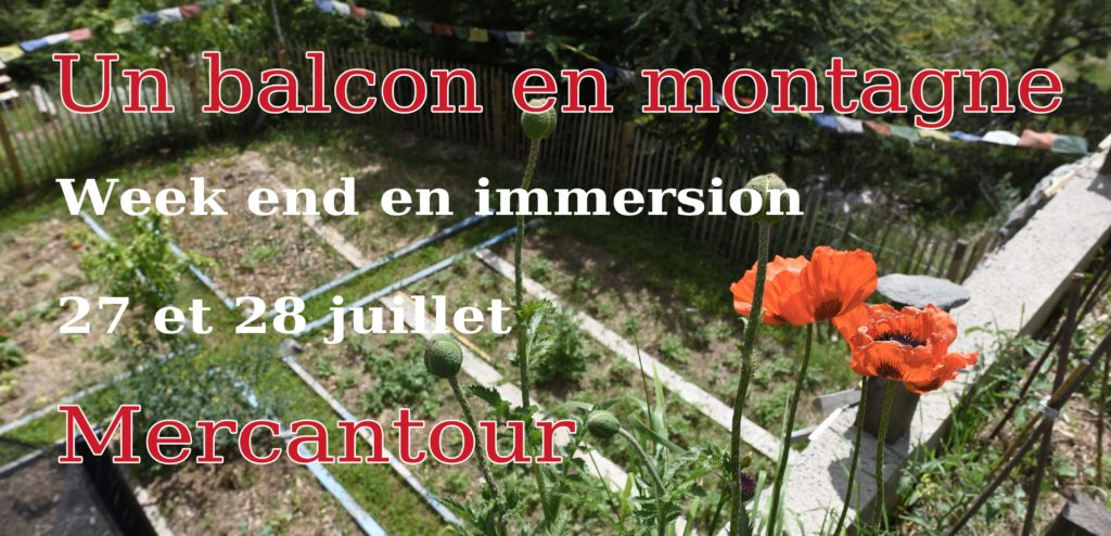 Week end en immersion dans un habitat permacole @ Un balcon en montagne @ Mercantour