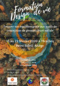 Formation design de vie avec la Caravane de Permaculture en Ariège @ Eco lieudu Point Soleil, Ariège