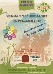 Formation de formateurs en permaculture avec La P'tite Utopie (Palluau, Vendée) @ Gîte le Pigeonnier