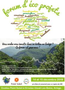 Forum d'éco projets en Ariège @ à l'éco lieu « Point Soleil »