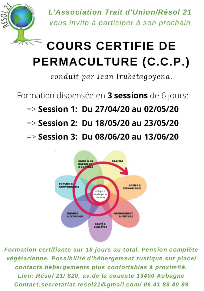 CCP en 3 sessions de 6 jours à Aubagne (13) - 2° session @ Résol 21