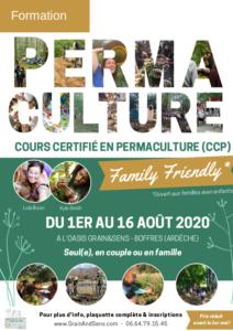 CCP «Family Friendly» - Cours Certifié en permaculture adapté aux familles @ à l'Oasis Grain&Sens