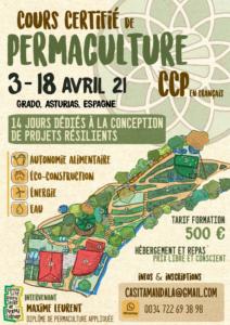 CCP Cours Certifié en Permaculture à la Casita Mandala, Asturies, Espagne (en français) @ à la Casita Mandala
