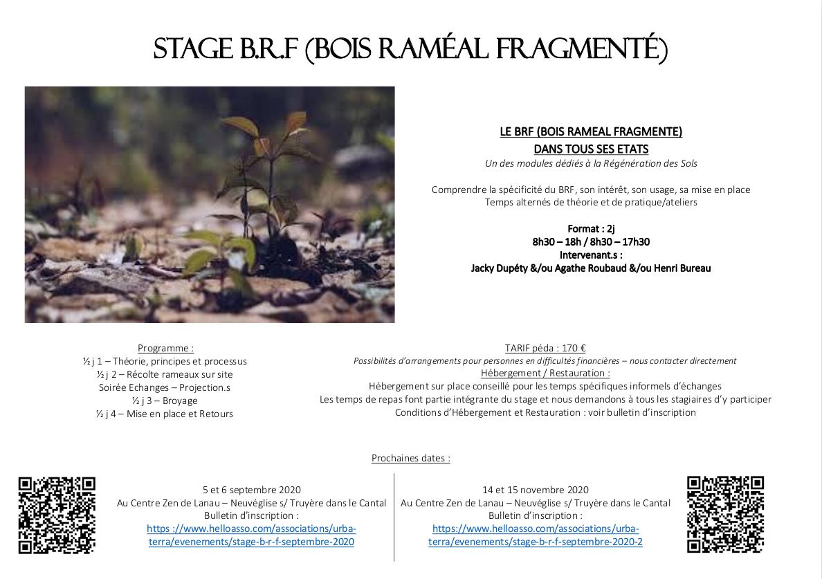 Stage BRF (Bois Raméal Fragmenté) @ Au Centre Zen de Lanau