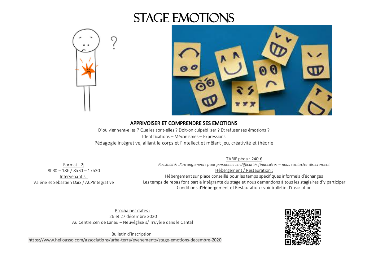 Stage Emotions @ Au Centre Zen de Lanau