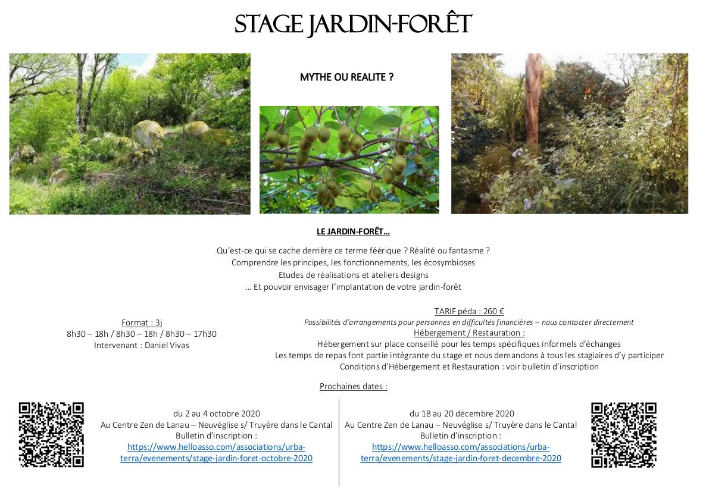 Stage Jardin Forêt @ Au Centre Zen de Lanau