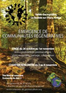 Stage « Émergence de communautés régénérative » @ à la vallée des myrtilles