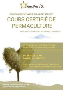 Cours certifié de Design en Permaculture (CCP) @ Sur le site expérimental d'architecture de Cantercel