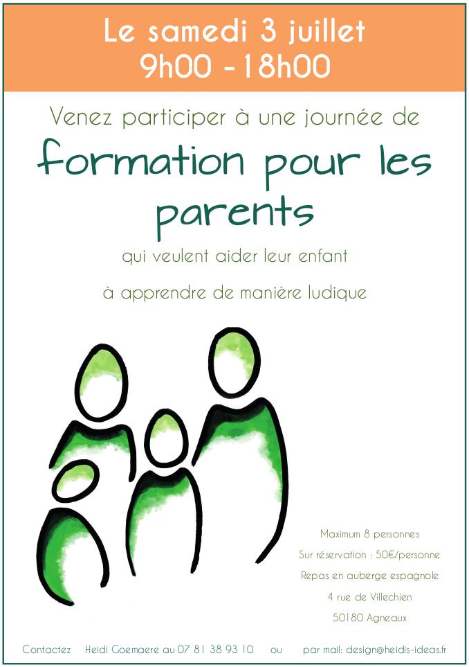 Formation pour les parents qui souhaitent aider leurs enfants à apprendre les fondamentaux du primaire de manière ludique