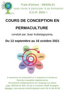CCP (Cours de Conception en Permaculture) à Aubagne - 3 semaines en présentiel, 2 semaines à distance